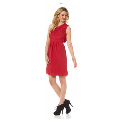 VINCE CAMUTO VINCE CAMUTO společenské šifonové šaty, červené společenské šaty