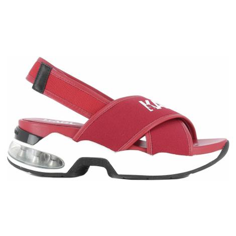 Sandále Karl Lagerfeld Ventura Karl X-Strap Sling - Červená