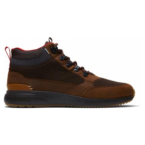 Waterproof Brown Distressed Leather/Mesh Men Skully Boot Toms