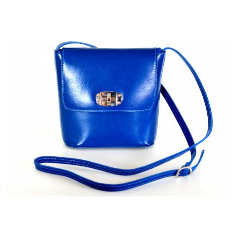 BRIGHT Dámská kožená kabelka Modrá, 20 x 8 x 19 (XIT00-L195-01TAM)