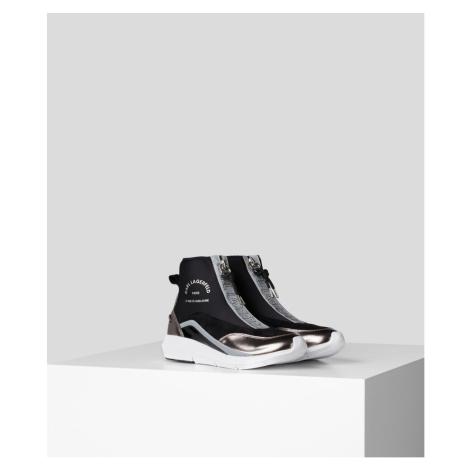 Kotníková Obuv Karl Lagerfeld Vitesse Knit Sock Zip - Černá