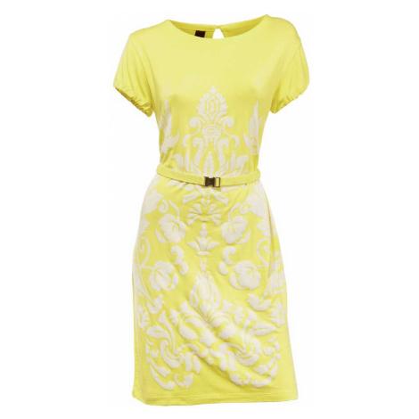 HEINE HEINE dámské letní šaty, šaty v barvě žluté se vzorem