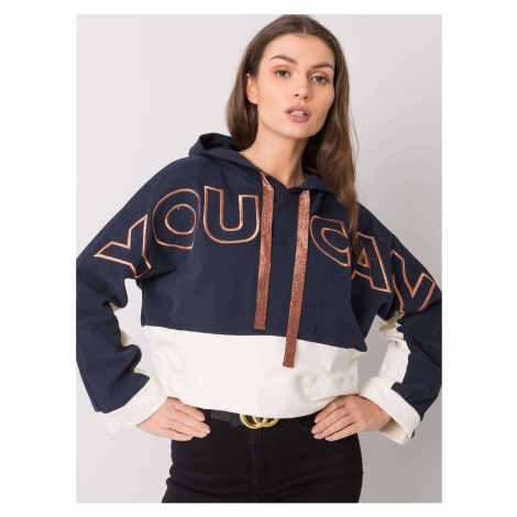 FOR FITNESS Navy blue hoodie Fashionhunters
