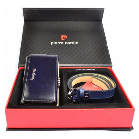 Luxusní dárková sada dámská s páskem 110 cm Pierre Cardin