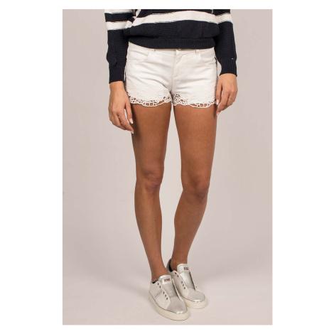 Guess dámské šortky bílé s krajkou
