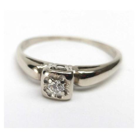 AutorskeSperky.com - Starožitný zlatý prsten s briliantem vzácná ryzost 13.56 kt - S4264