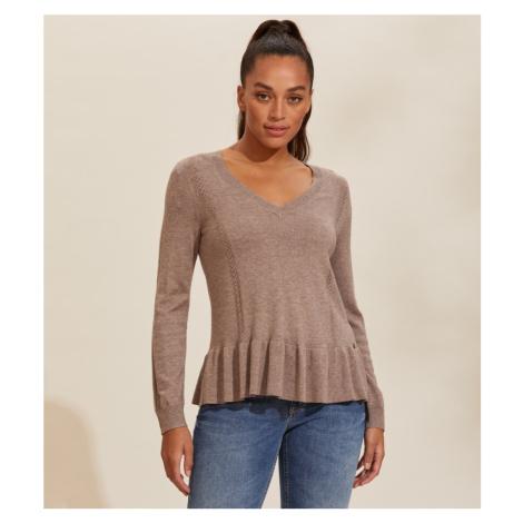 Svetr Odd Molly Aurora Sweater - Hnědá
