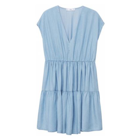 MANGO Šaty 'Siren' kobaltová modř