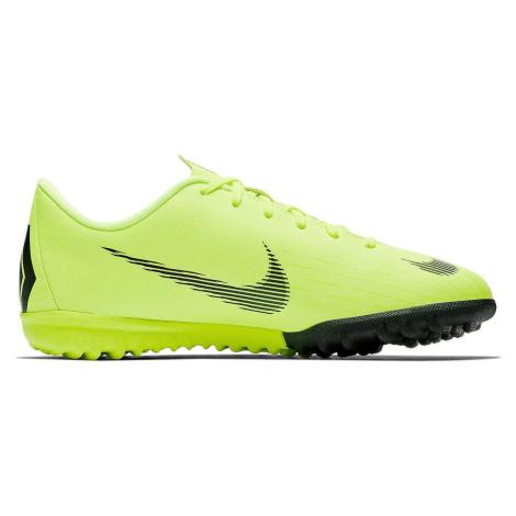 Dětské kopačky Nike Mercurial VaporX 12 Academy TF Zelená / Černá