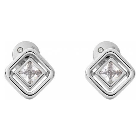Skagen Jemné ocelové náušnice s čirým krystalem Elin SKJ1431040