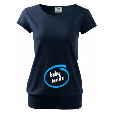Těhotenské tričko s vtipným motivem Baby inside BezvaTriko