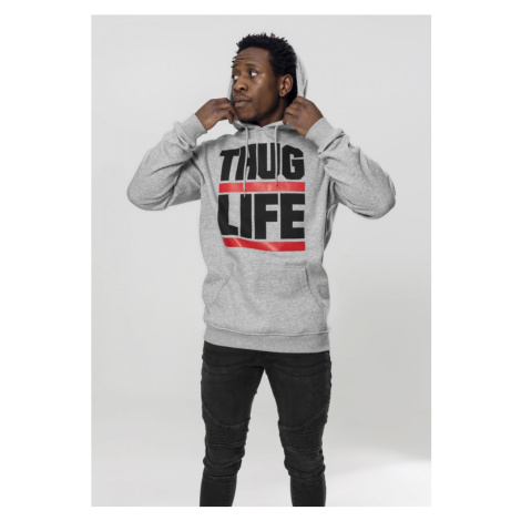 Thug Life Block Logo Hoody - grey
