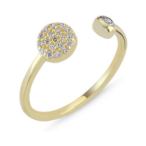 OLIVIE Stříbrný prsten GOLD - nastavitelná