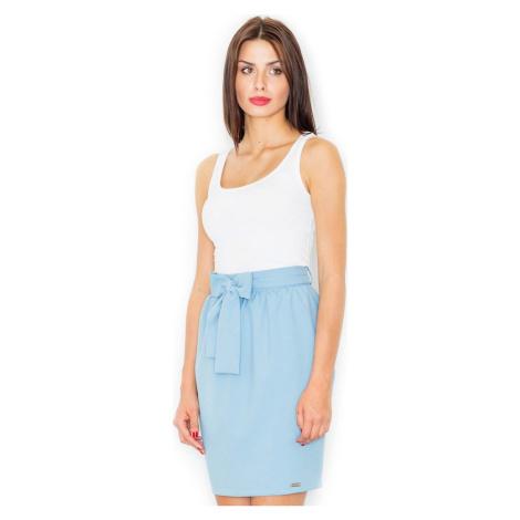 FIGL Modrá sukně s mašlí M524