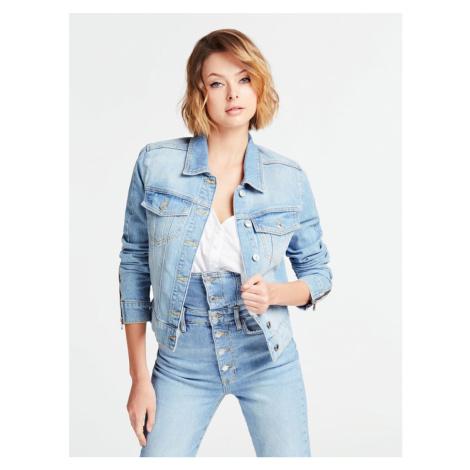 Guess dámská modrá džínová bunda