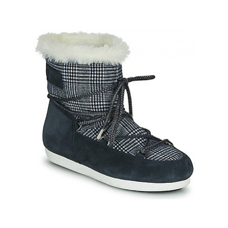 Moon Boot MOON BOOT FAR SIDE LOW FUR TARTAN Modrá