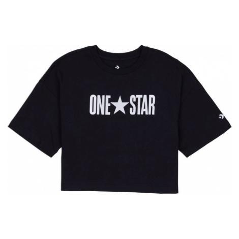 TRIKO CONVERSE One Star Printable Boxy W - černá