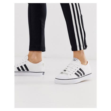 Adidas Originals white and black Nizza trainers