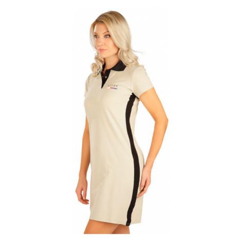 Dámské šaty s krátkým rukávem Litex 5B305 | béžová