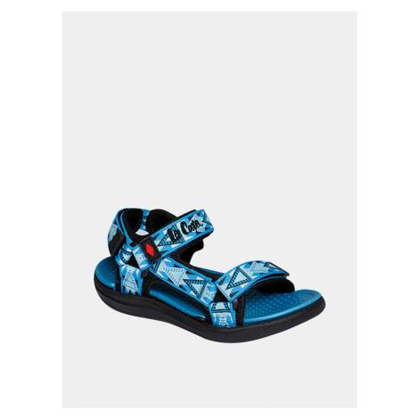 Modré klučičí vzorované sandály Lee Cooper