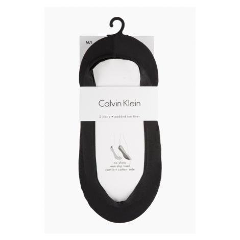 Calvin Klein no show ponožky černé 2 páry - dámské