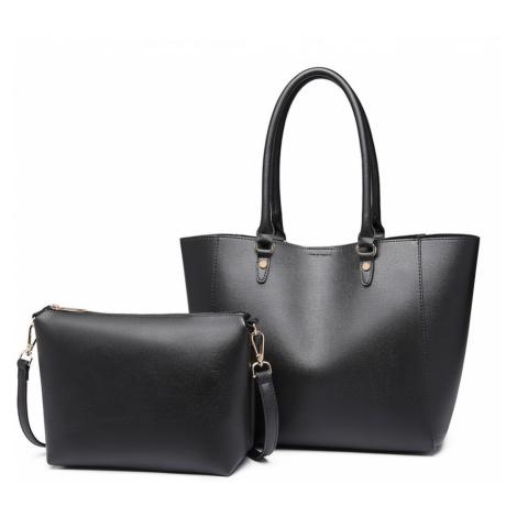 Černý dámský elegantní kabelkový set 2v1 Zamantha Lulu Bags