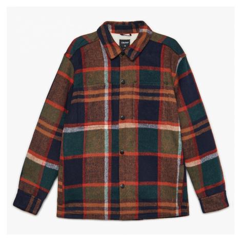 Cropp - Zateplená kostkovaná bunda - Khaki