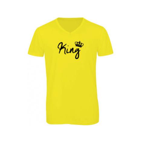 Pánské triko s výstřihem do V King
