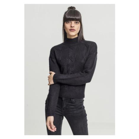 Ladies Short Turtleneck Sweater - black Urban Classics