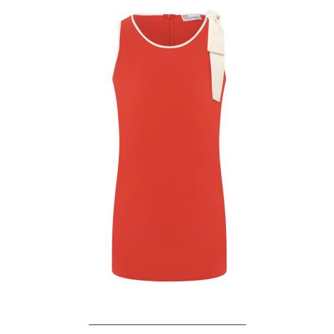 Červený hedvábný top RED VALENTINO