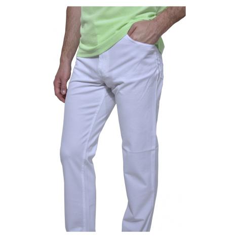 Biele voľnočasové nohavice Alain Delon