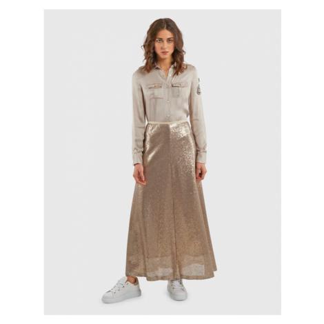Sukně La Martina Woman Sequined Tulle Skirt - Hnědá