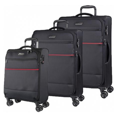 March Sada cestovních kufrů Easy S + M + L, černá