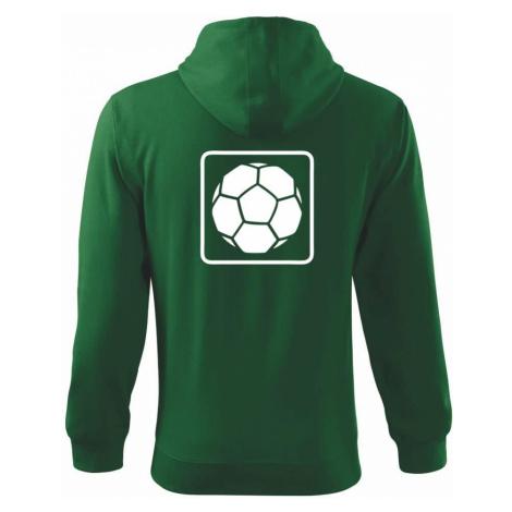 Fotbalový míč emblem - Mikina s kapucí na zip trendy zipper