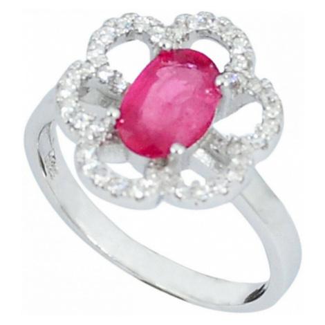 AutorskeSperky.com - Stříbrný prsten s rubínem - S2894