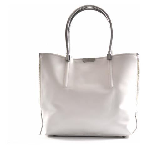 BRIGHT Dámská kabelka a kapsa A4 2v1 Bílošedá, 40 x 11 x 32 (BR18-WJ2015.767-15SYN)
