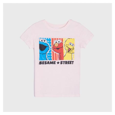 Sinsay - Tričko Sesame Street - Růžová