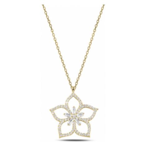 OLIVIE Stříbrný náhrdelník LOTOS GOLD 3897