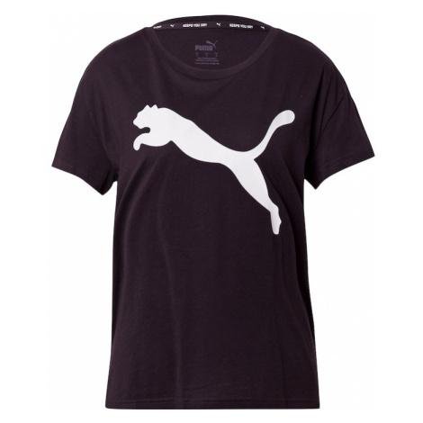 PUMA Funkční tričko černá / bílá