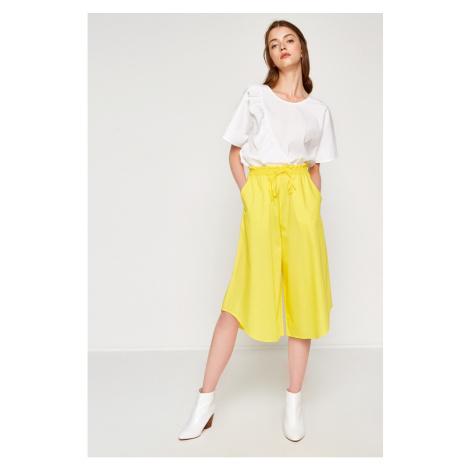 Koton Women Yellow Wide Leg Trousers