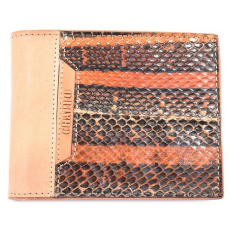 Pánská kožená peněženka z pravé kůže na šířku Charro - béžová