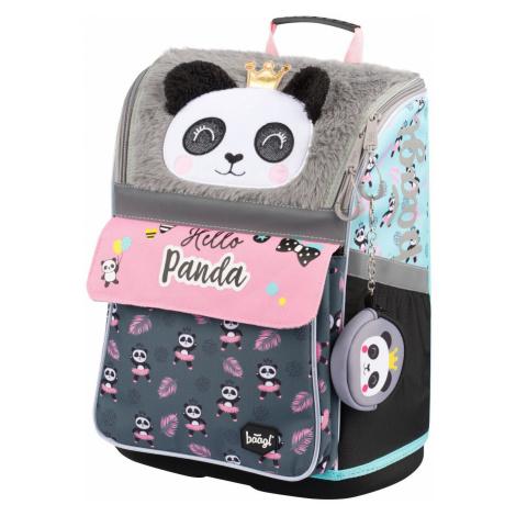 Zipová voděodolná školní aktovka pro holky s motivem pandy Sarahi Baagl