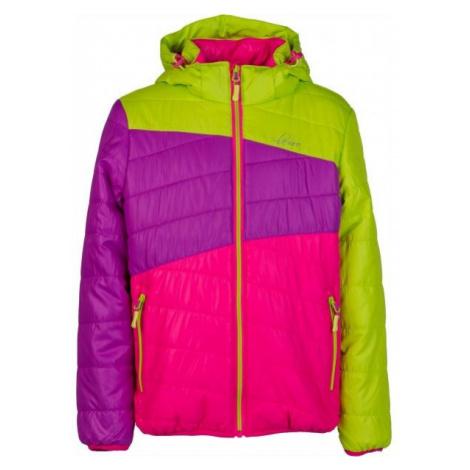 Lewro KALYF růžová - Dětská prošívaná bunda