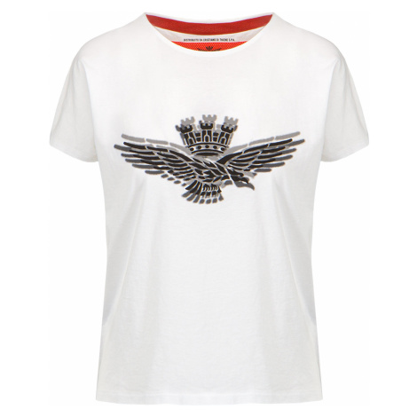 Tričko AERONAUTICA MILITARE bílá