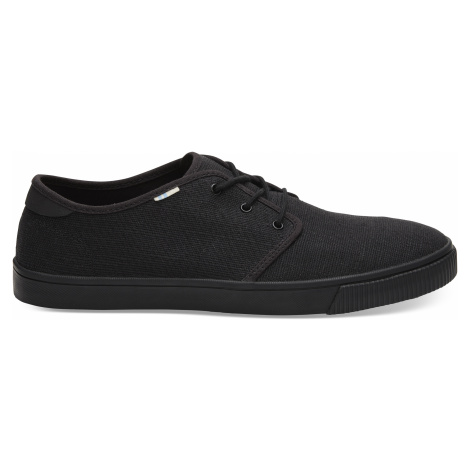 Black/Black Carlo Heritage Canvas Sneak Toms