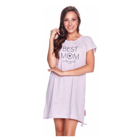 DN Nightwear Mateřská noční košile Best mom růžový melír