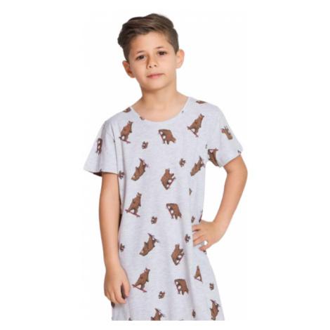 Dětská noční košile s krátkým rukávem Vienetta Secret Medvědi | šedá