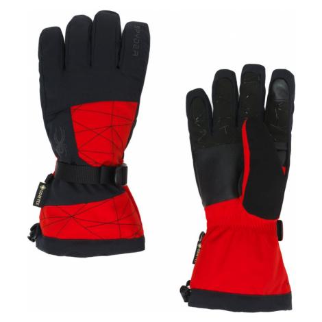 Rukavice Spyder SP-M Overweb GTX Ski Glove - červená/černá