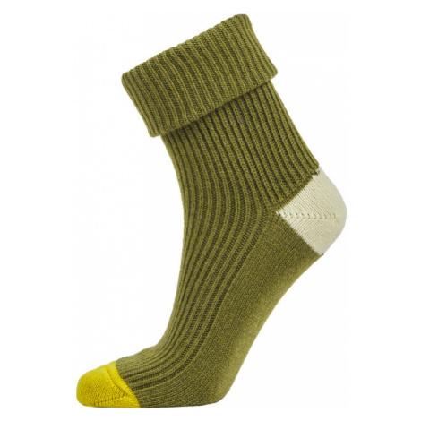 Ponožky Camel Active Camel Women Bootsocks Cosy Light Grey Mel 35-38 - Zelená