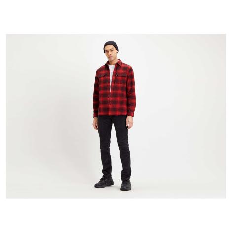 Košile Levi´s® Jackson Worker Ametrine pánská červeno-černá